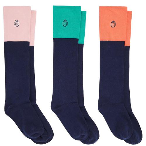 Jade/Coral/Blush Pink Fairfax & Favor Womens Signature Sock Gift Set