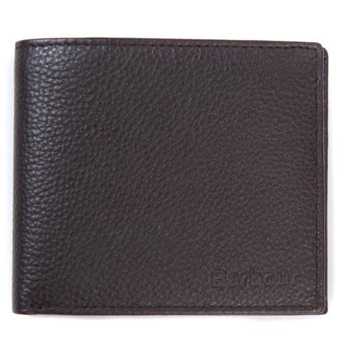Dark Brown Barbour Amble Leather Billfold Wallet
