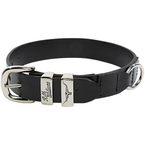 Black R. M. Williams Drover 1.25 Inch Dog Collar