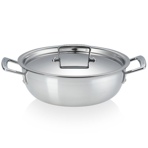 Le Creuset 24cm 3 Ply Stainless Steel Non-Stick Chefs Casserole