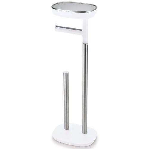 White  Joseph Joseph EasyStore Butler Standing Toilet Paper Holder