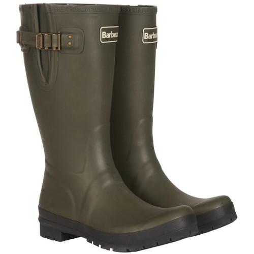 Olive Barbour Mens Cirrus Wellington Boots