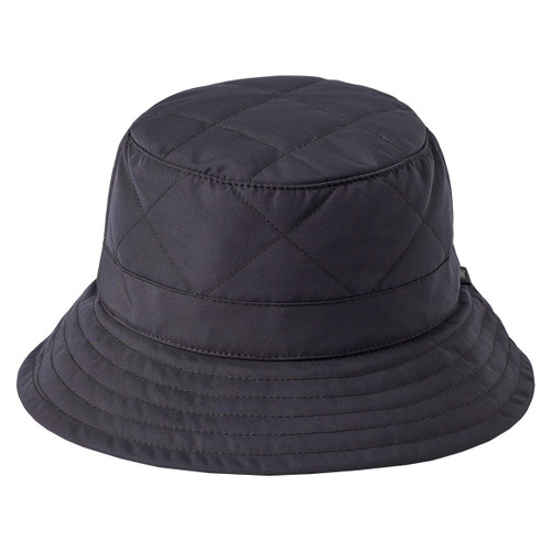 Tilley Quilted Down Bucket Hat in Black