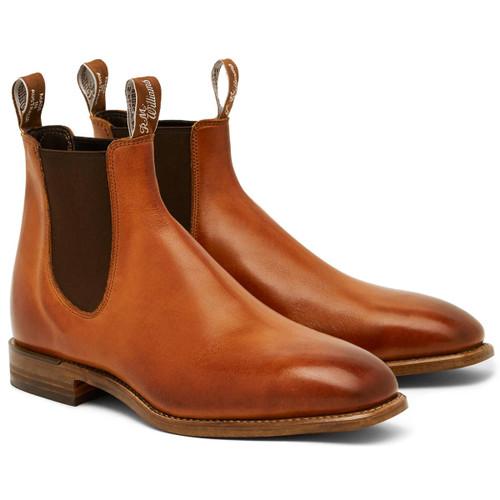 Cognac R. M. Williams Mens Chinchilla Boots