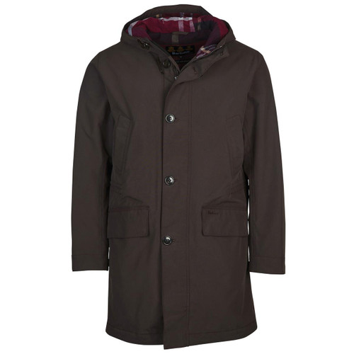 Rustic/Winter Red Barbour Mens City Parka Jacket