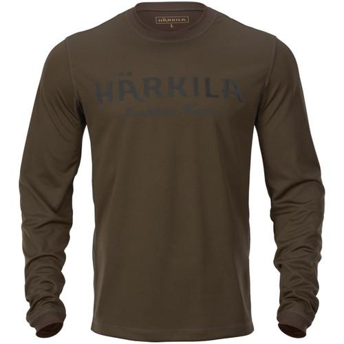 Hunting Green/Shadow Brown Harkila Mens Mountain Hunter L/S T-Shirt