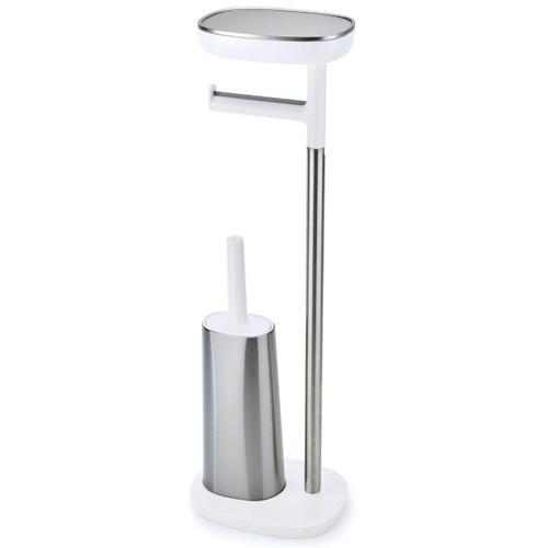 Joseph Joseph EasyStore ButlerPlus Standing Toilet Paper Holder With Flexi Steel Brush