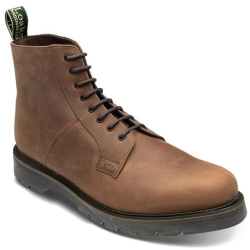 Brown Oiled Nubuck Loake Mens Niro Boots