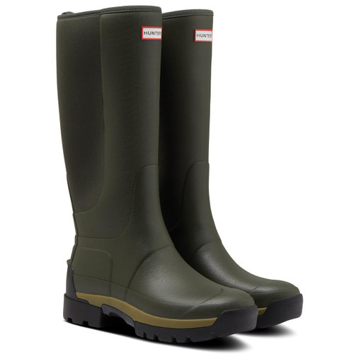 Dark Olive Hunter Womens Field Balmoral Hybrid Tall Boots