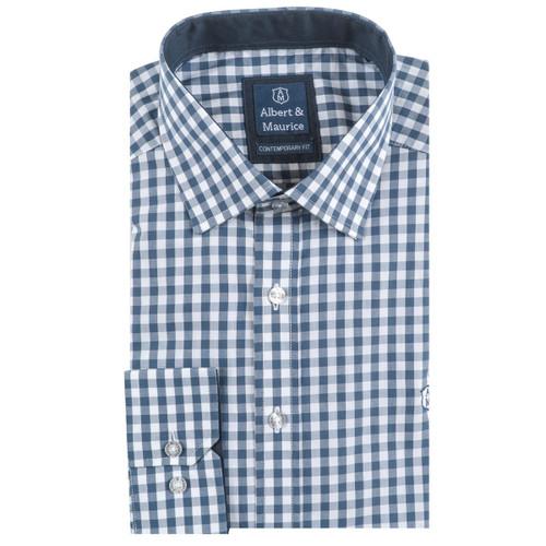 Horizon Blue Albert and Maurice Mens Lugwardine Shirt