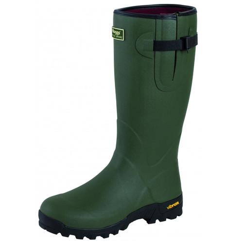 Field Green Hoggs Of Fife Field Sport Neoprene-Lined Rubber Boot