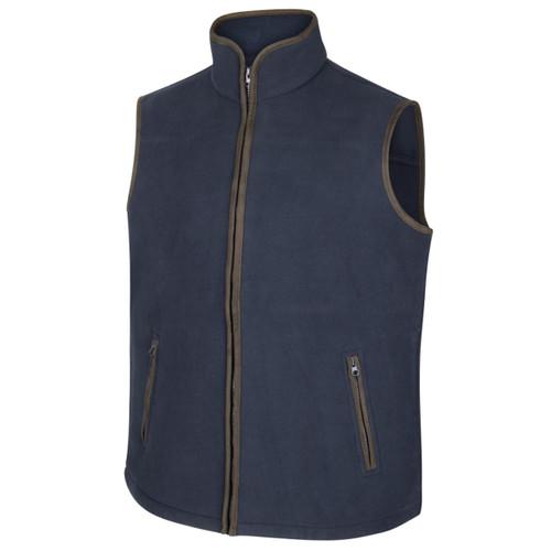 Navy Hoggs Of Fife Woodhall Fleece Gilet
