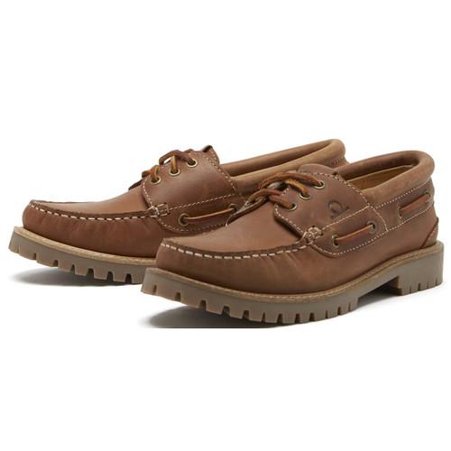 Tan Chatham Mens Sperrin Boat Shoe
