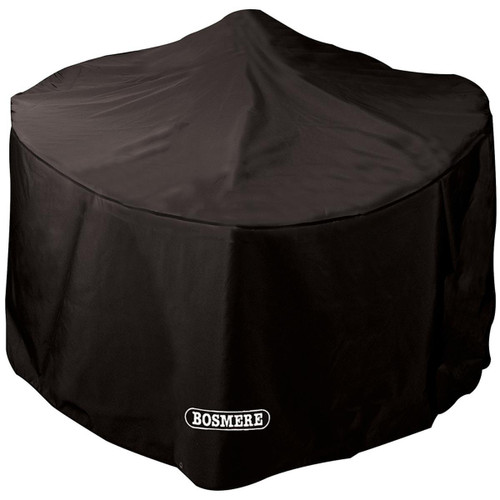 Bosmere 6000 Large Round Fire Pit Cover in Storm Black