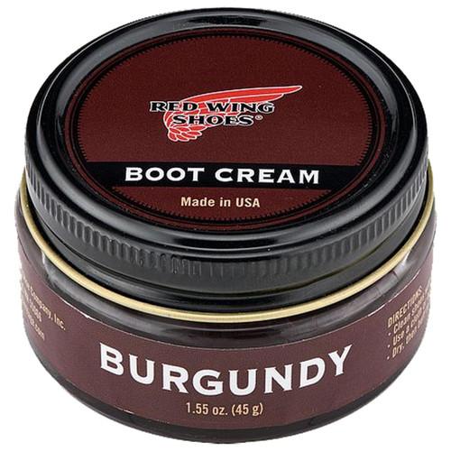 Burgundy Red Wing Boot Cream