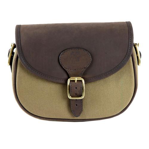 Teales Huntsman Oiled Leather & Khaki Canvas Cartridge Bag