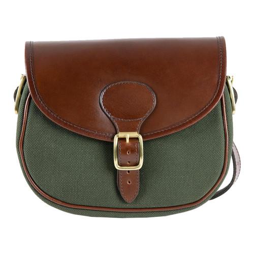 Teales Huntsman Cartridge Bag in Brandy & Forest