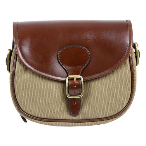 Teales Huntsman Brandy & Khaki Cartridge Bag