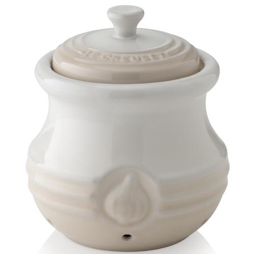 Meringue Le Creuset Stoneware Garlic Keeper