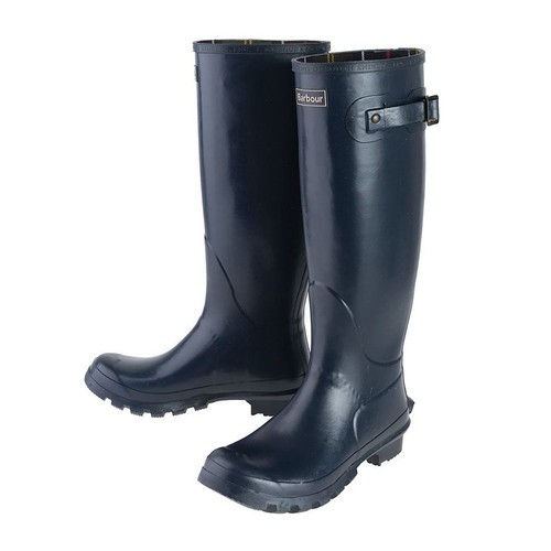 Navy Barbour Womens Bede Wellington Boots