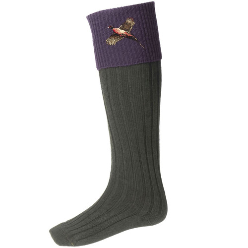 Spruce/Thistle House Of Cheviot Unisex Classic Lomond With Pheasant