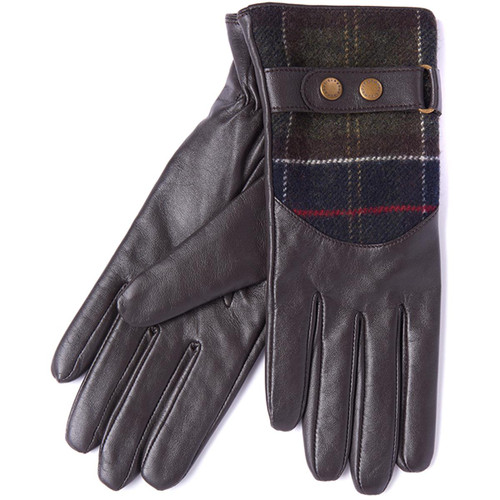 Brown  Barbour Womens Dee Tartan Gloves