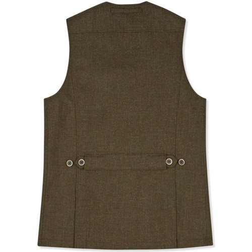 Musto Stretch Technical Tweed Waistcoat - Back View