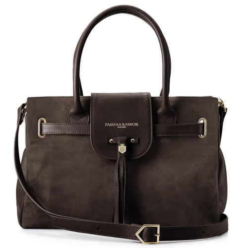 Chocolate Fairfax & Favor Womens Windsor Handbag