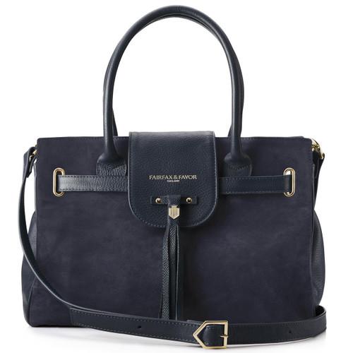 Navy Fairfax & Favor Womens Windsor Handbag