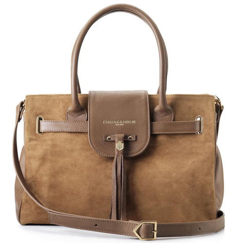 Tan Fairfax & Favor Womens Windsor Handbag