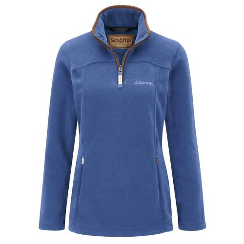 Cobalt Blue Schoffel Womens Tilton 1/4 Zip Fleece