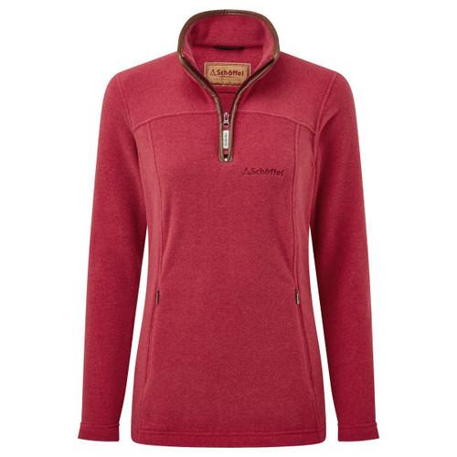Pomegranate Schoffel Womens Tilton 1/4 Zip Fleece