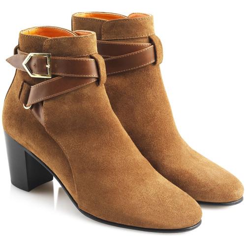2b7b1ca60c003 Tan; Chocolate; Tan Sole; Rear View; Fairfax & Favor Kensington Boots ...