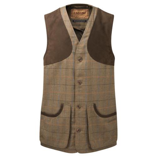 Arran Tweed Schoffel Mens Ptarmigan Tweed Waistcoat II