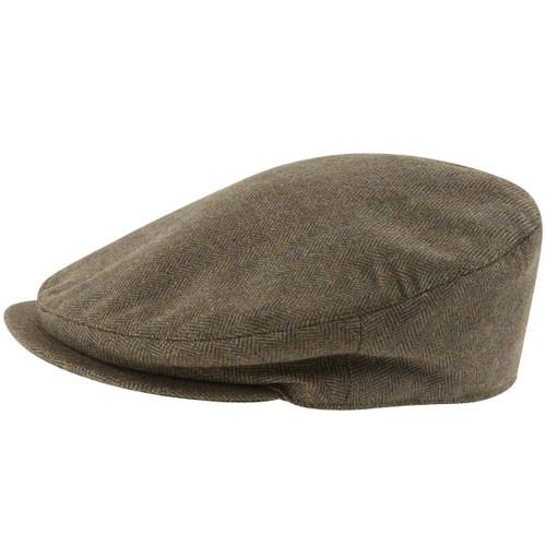 Loden Green Herringbone Tweed Schoffel Unisex Tweed Classic Cap