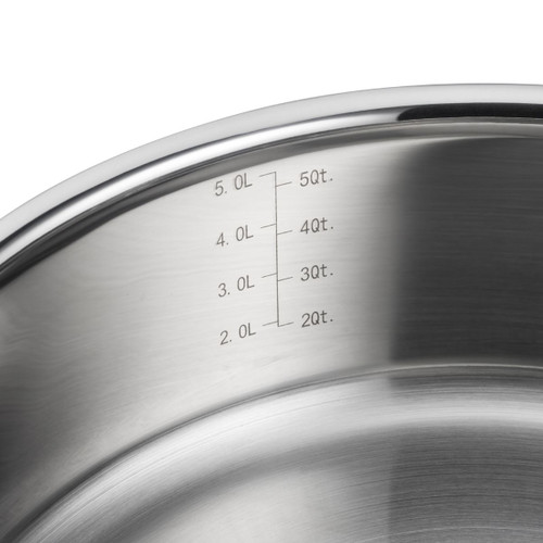 Le Creuset 3 Ply Stainless Steel Sauteuse