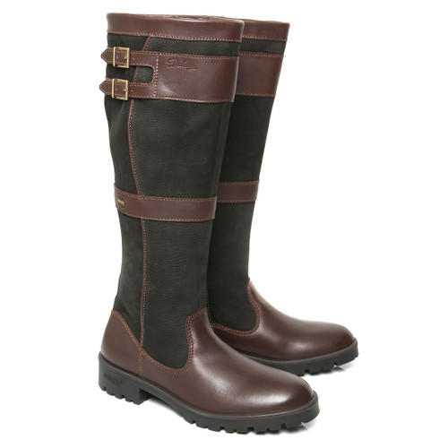 Dubarry Longford Boots in Black / Brown