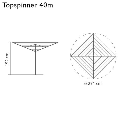 Brabantia Rotary Topspinner 40m