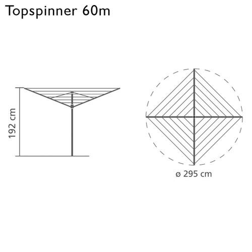 Brabantia Rotary Topspinner 60m
