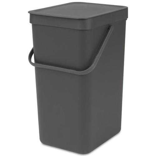 Grey Brabantia Sort & Go Waste Bin 16 Litre
