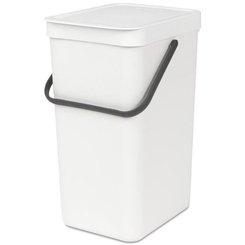 White Brabantia Sort & Go Waste Bin 16 Litre
