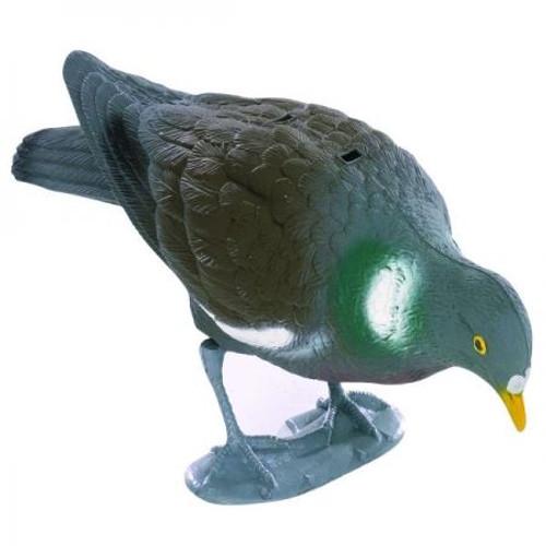 Pigeon Decoy With Feet Feeding