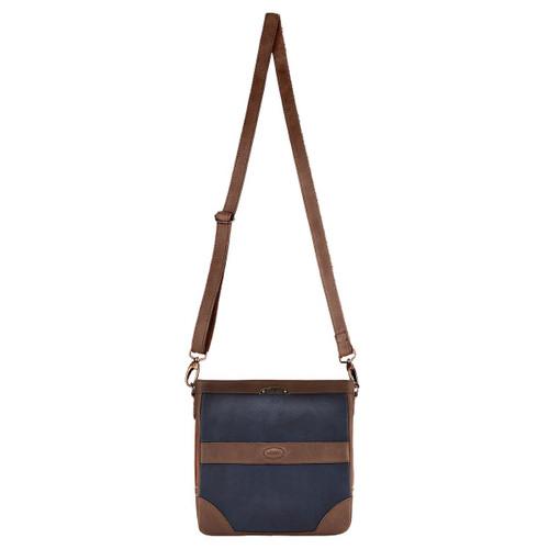 Dubarry Womens Ardmore Messenger Bag Navy/Brown