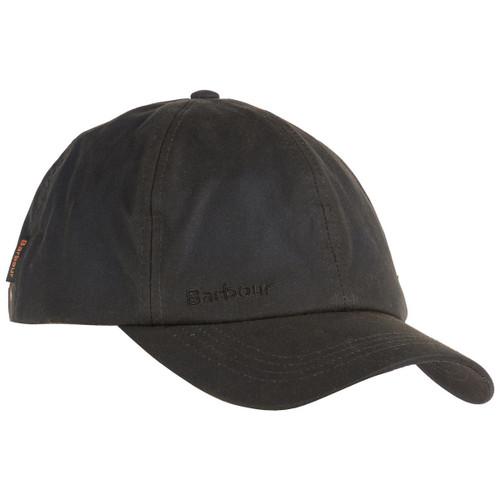 Olive Barbour Mens Wax Sports Cap