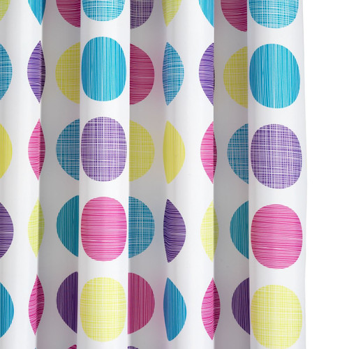 Croydex Patterned Textile Shower Curtain