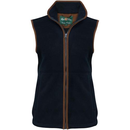 Dark Navy Alan Paine Womens Aylsham Fleece Waistcoat