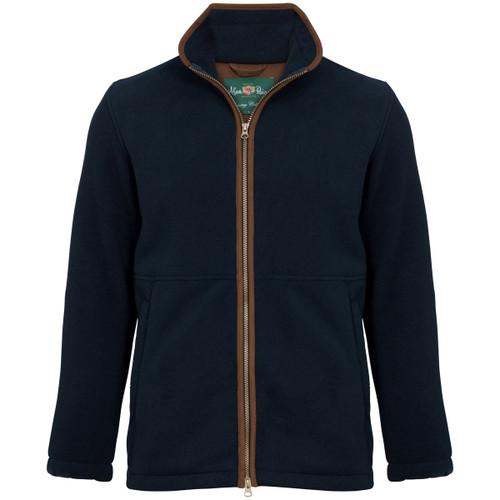 Dark Navy Alan Paine Mens Aylsham Windblock Fleece Jacket