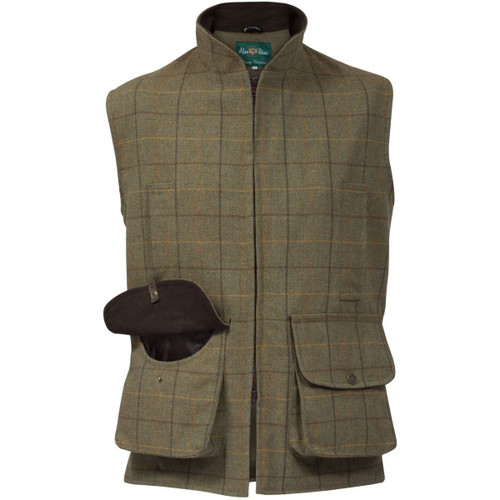 Dark Moss Alan Paine Mens Rutland Waistcoat