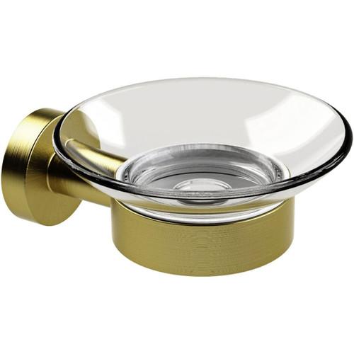 Miller Bond Brushed Brass Soap Dish