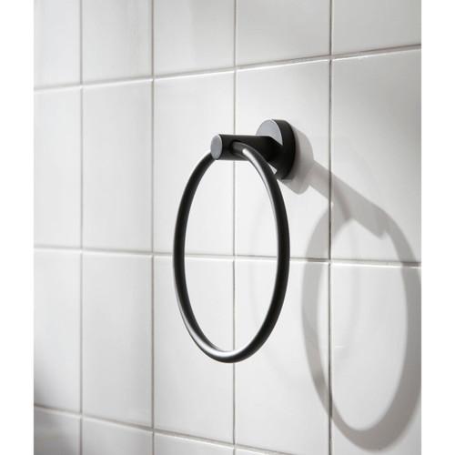 Miller Bond Black Towel Ring